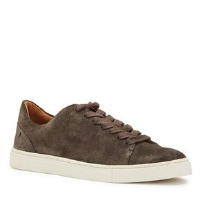 Frye Ivy Low Lace Sneakers Suede Grigio Gray NEW